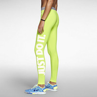 Nike Pro Hyperwarm Compression Tight Fit Legging Leg-A-See JUST DO IT 640959-702