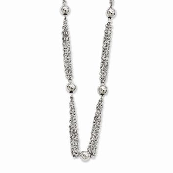 Stainless Steel Multi-strand with Beads Necklace