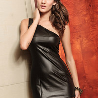 Wholesale Charming Black One Shoulder Dress for 2012