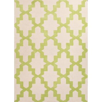 Kara Green Lattice Area Rug