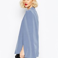 Lavish Alice | Lavish Alice Collarless Cape Blazer at ASOS