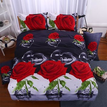 bedding set 3d bed set Eiffel Tower  rose Butterfly sunflower panda bedclothes duvet cover sheet queen king size bed linen