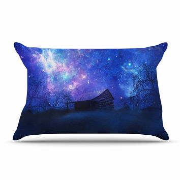 "Viviana Gonzalez ""Beginning"" Blue Galaxy Pillow Case"