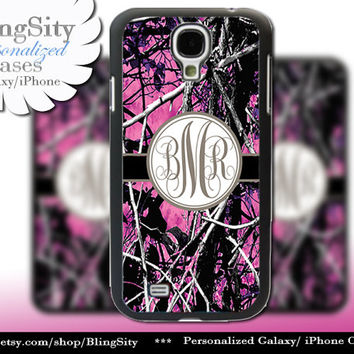 Camo Brown Monogram Galaxy S4 case S5 RealTree Muddy Camo Personalized Samsung Galaxy S3 Case Note 2 3 Cover Country Girl