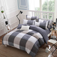 Spring and Autumn Cotton Bedding Sets Duvet Cover Bed Sheet Minimalist Style Checkered Fashion 3 / 4pcs Queen Full Twin Size