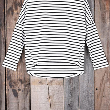 Cupshe Stripe A Pose High Low Top