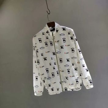 Burberry Colorful letter logo trench coat jacket 002