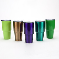 2016 New Hot 30 OZ Double Stainless Steel Tumbler Travel Mug Water Bottle Rambler Cups Cooler Mugs Coffee Beer cup