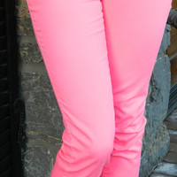 Skinny Minnie Hot Pink Jeggings