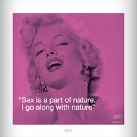 Marilyn Monroe 'Sex Is a Part of Nature' Poster in Home & Dorm Posters TV, Movies & Music