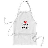 Bluegrass Music: I love (heart) Cabin Songs Adult Apron