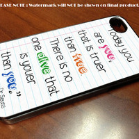Dr Seuss - iPhone 4 / iPhone 4S / iPhone 5 Case Cover