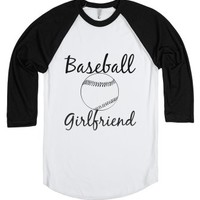 Baseball girlfriend-Unisex White/Black T-Shirt