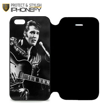 Elvis Presley Rock Star iPhone 5 Flip Case|iPhonefy