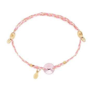 Light Rose Crystal Precious Threads Bracelet