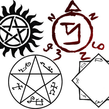 Stickers Supernatural Sigil Sticker Pack From Somerley On Etsy
