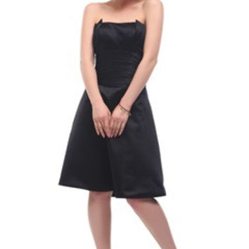 Origami Strapless Waistband Little Black Dress