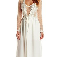 Showstopper Satin Charmeuse & Lace Robe by Flora NiKrooz(XS-Large)