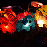 Night Lights Mixed Colors Elephant Hanging Lights for Bedroom Decoration 20 Lights/SetMixed