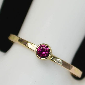Classic 14k Gold Filled Ruby Ring