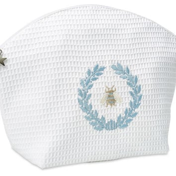 Napoleon Bee Cosmetic Bag, White, Large, Toiletry Bags