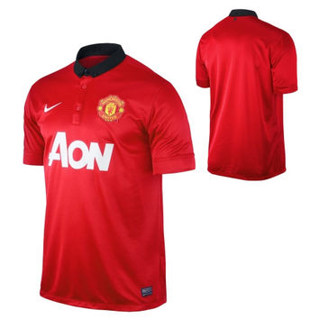 Nike Manchester United FC Youth 2013/14 Replica Home Jersey - Red - http://www.shareasale.com/m-pr.cfm?merchantID=7124&userID=1042934&productID=520941233 / Manchester United FC