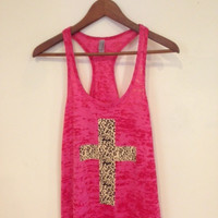 Animal Print Cross Tank