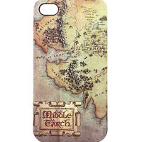 The Hobbit: The Desolation of Smaug Middle Earth Map iPhone 4/4S Case