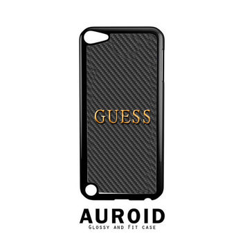 GUESS WATCHES LOGO CARBON iPod Touch 4 | 5 Case Auroid