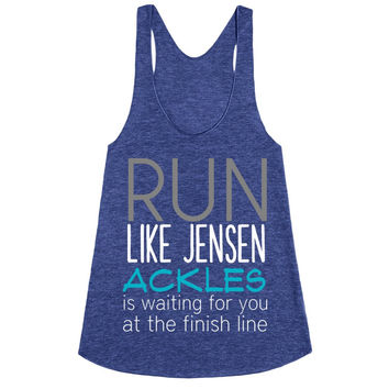 Run like Jensen Ackles is waiting for you at the finish line