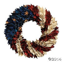 Americana Flag Floral Wreath