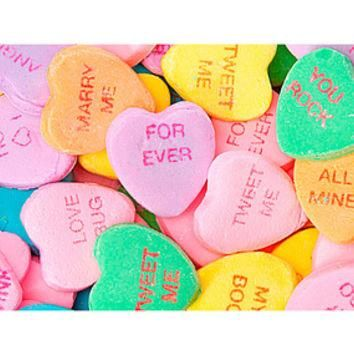 Necco Large Conversation Candy Hearts: 7-Ounce Bag
