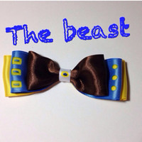 The beast inspired disney bow