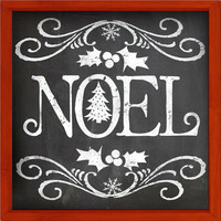 Noel chalkboard look wooden sign framed out in wood  Handmade Christmas signs Holiday signs Christmas decor Christmas chalkboard signs Noel