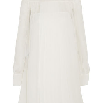 Pleated draped chiffon dress | Miu Miu | US | THE OUTNET
