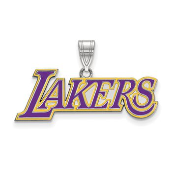 NBA Los Angeles Lakers Large Logo Pendant in Sterling Silver