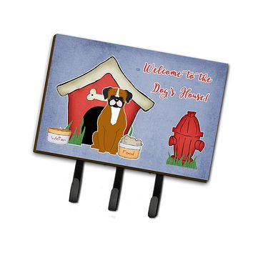 Dog House Collection Flashy Fawn Boxer Leash or Key Holder