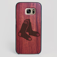 Boston Red Sox Galaxy S7 Edge Case - All Wood Everything