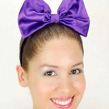 Daisy Duck Headband Purple Minnie Mouse Halloween Costume Purple Daisy Duck bow Daisy Duck Halloween Costume Ears Daisy Outfit Minnie Outfit