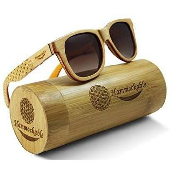 Maple Wood Sunglasses - 100% Polarized Lenses in a Sustainable Wooden Wayfarer that Floats!