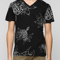 BDG Rose V-Neck Tee - Urban Outfitters