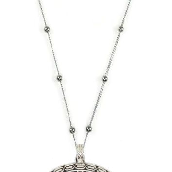 Tribal Crescent Moon Long Necklace