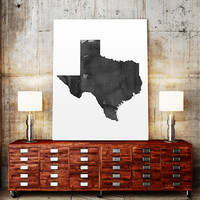 Texas Watercolor Map USA Art Print Texas Ink Splash Map Poster Art Canvas Watercolor Map Usa Map Print Printable wall art INSTANT DOWNLOAD