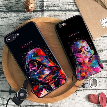 Star Wars logo Darth Vader Tpu Soft Silicone Phone Case Cover Shell For Apple iPhone 5 5S SE 6 6S 6Plus 6sPlus 7 7Plus 8 8Plus X