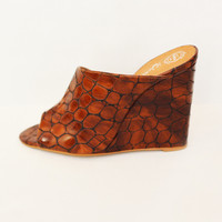 JEFFREY CAMPBELL JOVIE MULE | BROWN CROC | Van De Vort