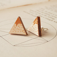 Twin Peaks Wooden Earrings