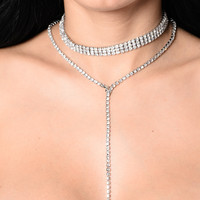 Saving It For Tonight Necklace - Silver