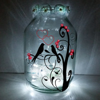 Hand painted Chinese Lantern / candle holder / night light....MADE TO ORDER.