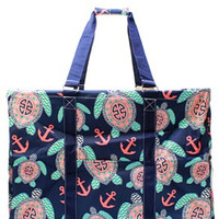 Utility Tote Extra Large - Turtle Print