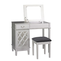 Linon Lattice Vanity Set